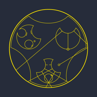 Jesus Is Lord in Gallifreyan Tee (Gold) t-shirts