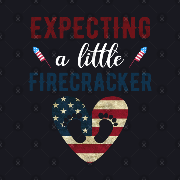 4th of July Pregnancy Announcement shirt, Expecting a Little Firecracker 4th of July Mom to be shirt, 4th of July Baby Announcement