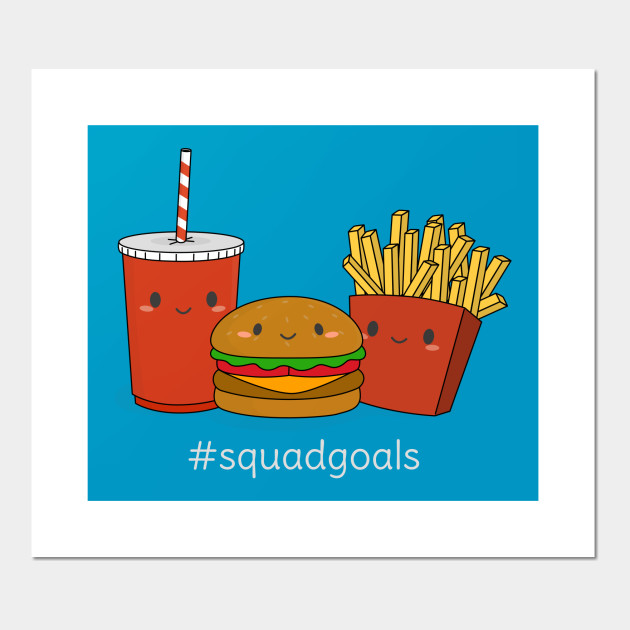 Funny Fast Food Squad Goals T-Shirt