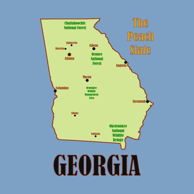 Map Of Georgia For Kids.Georgia Map Georgia Kids T Shirt Teepublic