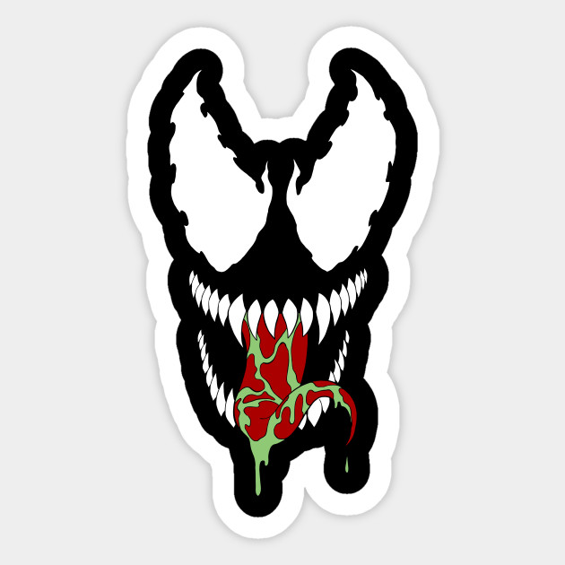 Venom Spider Man Sticker Teepublic
