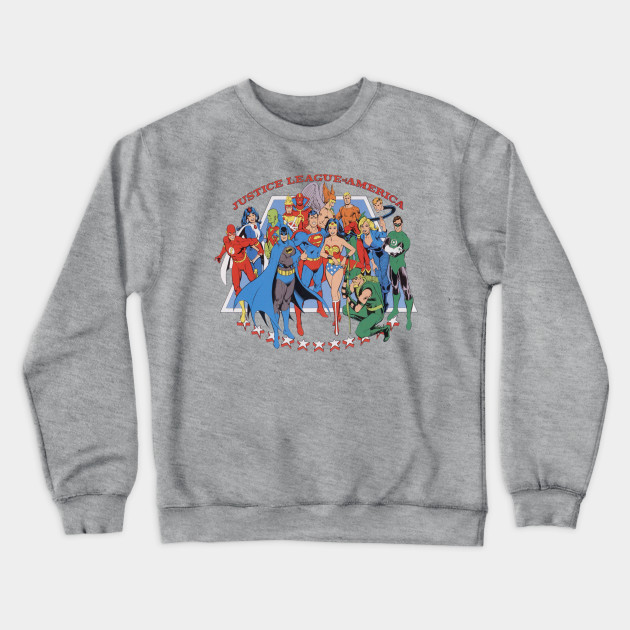 United Stars Adult Crewneck Sweatshirt Justice League of America