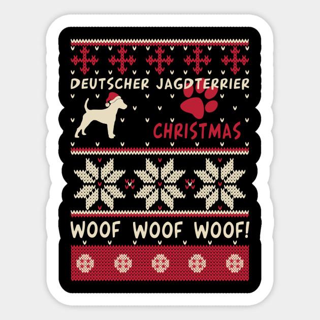 Deutscher Jagdterrier Christmas Gift T Shirt For Dog Lovers