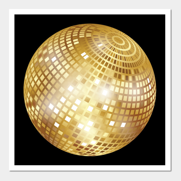 Disco Ball / Mirror Ball / Glitter Ball (Gold)