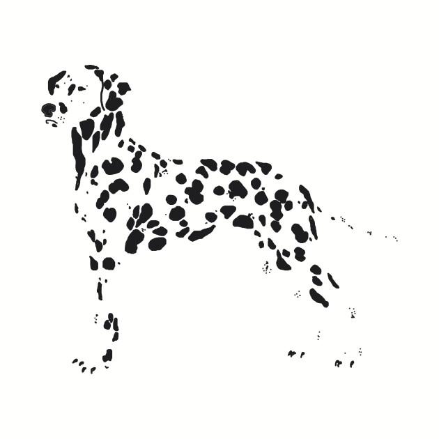 Dalmatian Spots - Dalmatian - T-Shirt   TeePublic