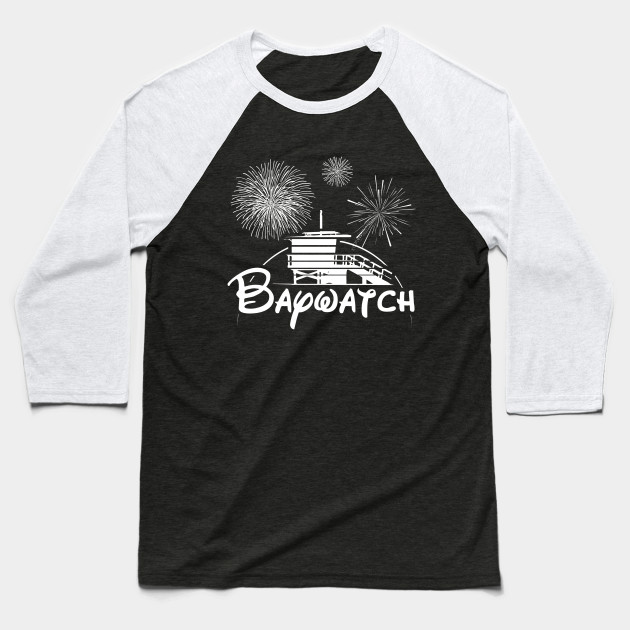 a9eb50f9 Baywatch Walt Disney Lifeguard Tower - Disney - Baseball T-Shirt ... Disney  T-Shirts - Officially Licensed T-Shirts! Womens Mickey Mouse Stars T Shirt  White ...