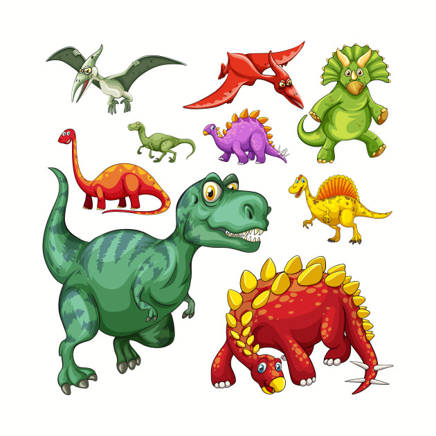 Assorted Illustrated Dinosaurs