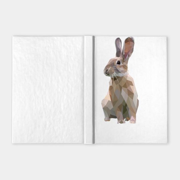 Brown Bunny. Rabbit. Geometric. Lowpoly. Illustration. Digial Art.