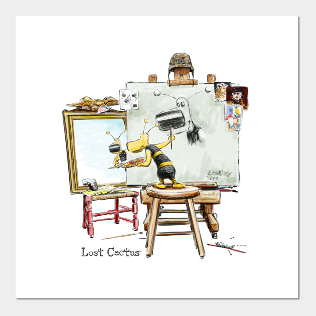 Lost Cactus Bentley the Bee Self Portrait