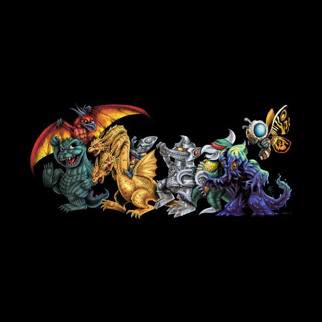 Where The Wild Kaiju Are - Godzilla - Mug