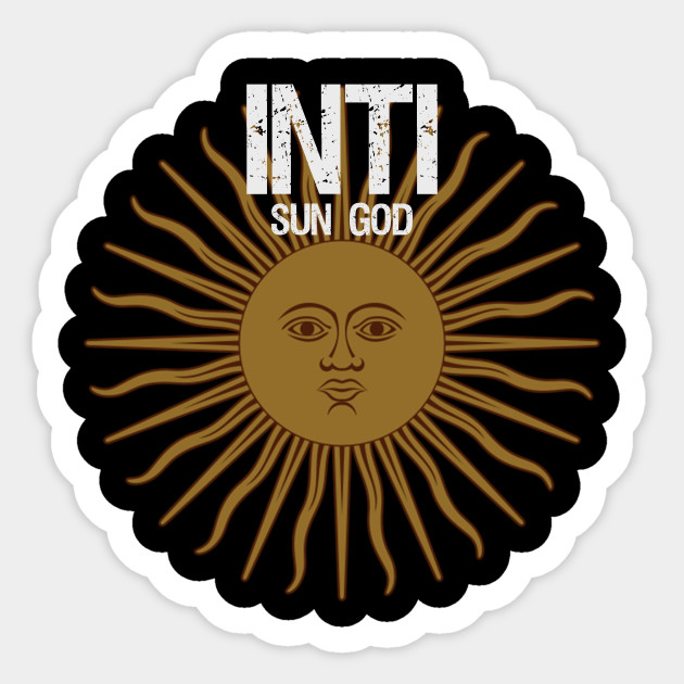 Inti Sun God Inca Sticker Teepublic
