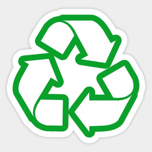 White Reduce Reuse Recycle Repurpose Living Green Green