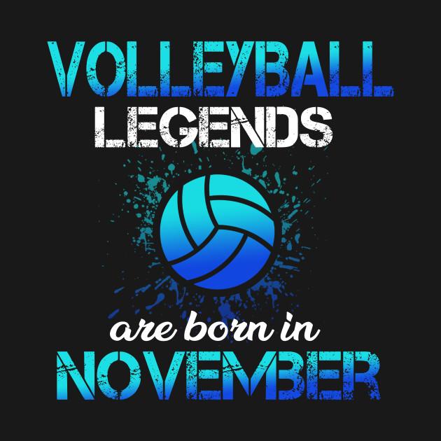Volleyball Legend Are Born November Birthday Gift