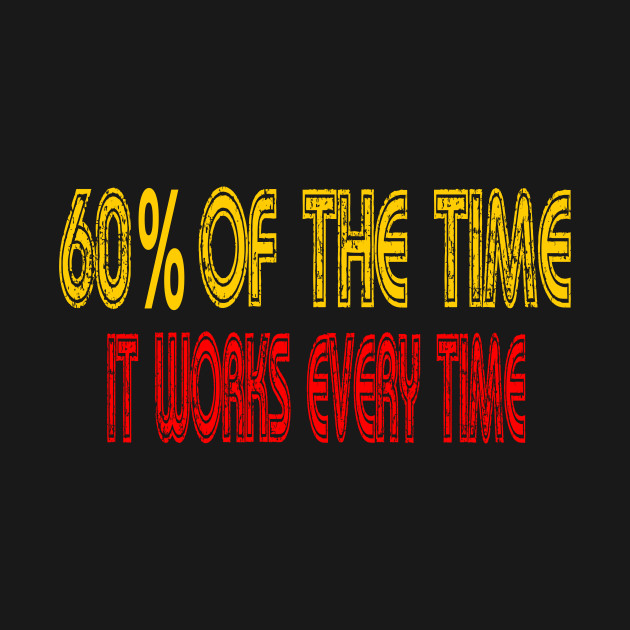 Anchorman Quote - 60% Of The Time It Works Every Time