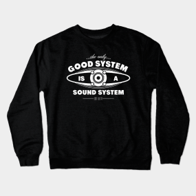 593a22b2d9a3 Sound System Crewneck Sweatshirts