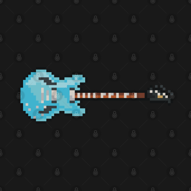 Pixel Blue Gibson DG Guitar