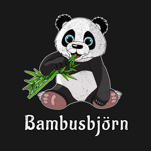 Cute Panda Bear Design I Bambusbjorn I Panda Eating Bambus Panda