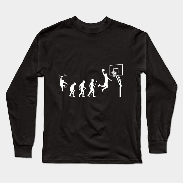 36beaf694 Cool basketball shirt showing the evolution of man to basketball Long  Sleeve T-Shirt
