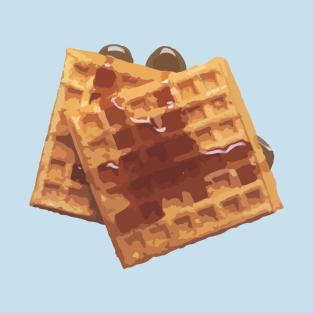 Yummy Food Waffles t-shirts