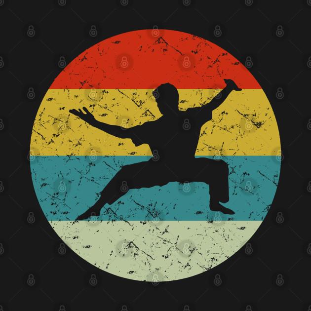 retro vintage martial arts