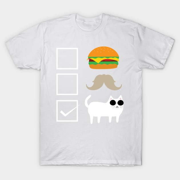 Burger Beard Cat T-Shirt-TOZ