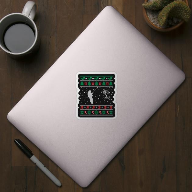 Fishing Christmas gift for fisherman - Finsherman - Sticker | TeePublic