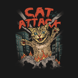 Cat Attack t-shirts