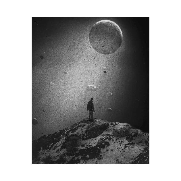 Moon in the ocean