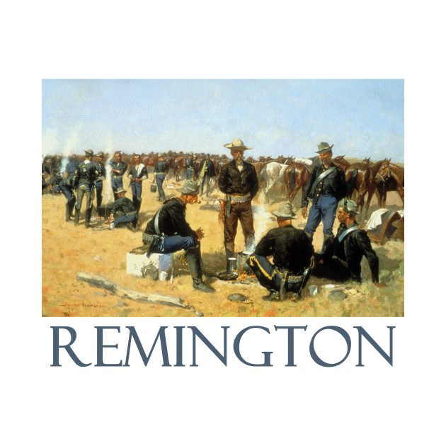 A Cavalryman's Breakfast on the Plains (1892) by Frederic Remington