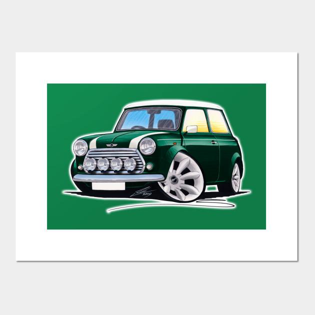Rover Mini Cooper Sport British Racing Green Mini Cooper Posters