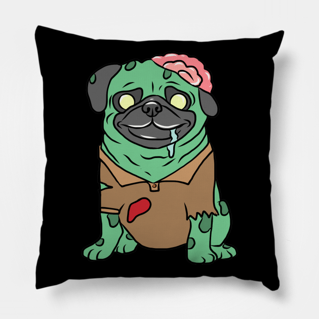 Zombie Pug T-Shirt Funny Dog Halloween Gift Pug Zombie Tee Mens Womens Pug Shirt Pug Halloween Zombie Pug Tee Funny Pug Shirt Halloween Pug Shirt Scary Dog Shirts