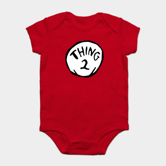 61055b4f Thing 1 Thing 2 Thing Dad Thing Mom - Thing 2 - Onesie | TeePublic