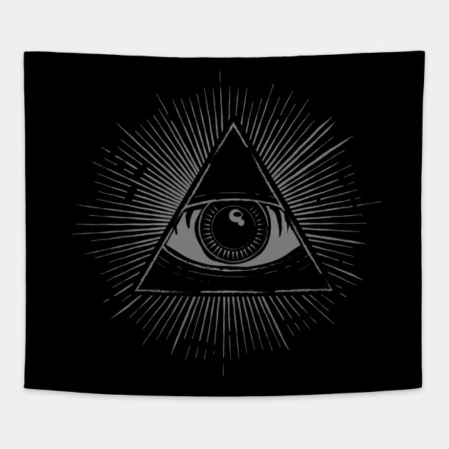 Illuminati New World Order Cultist Symbol Occult Tapestry