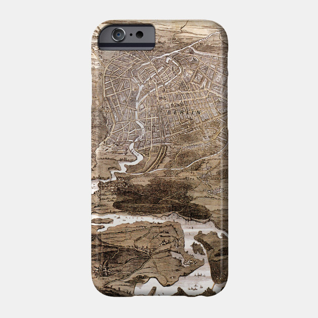 Map Of Germany 1870.Vintage Map Of Berlin Germany 1870 Berlin Map Phone Case