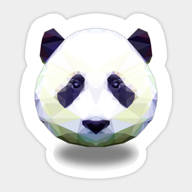 colorful panda panda sticker teepublic