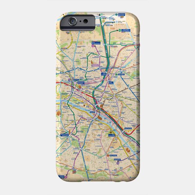 Subway Map Phone.Paris Subway Map With Streets France