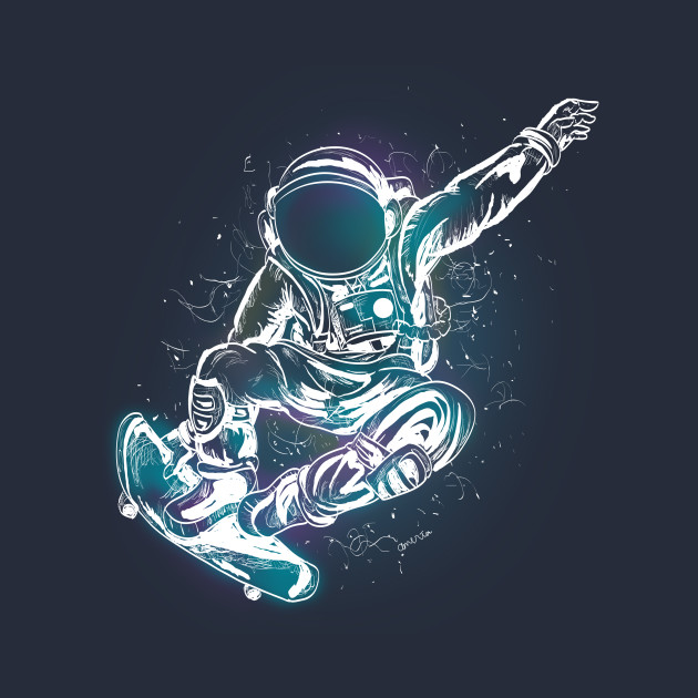 astronaut skateboarding - photo #7