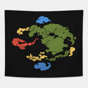 Avatar The Last Airbender Map Tapestries | TeePublic
