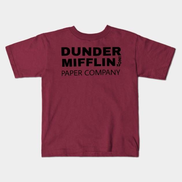 f4aa59d1c0be The Office TV Show Dunder Mifflin Paper Men's Royal Blue T-Shirt Kids T- Shirt
