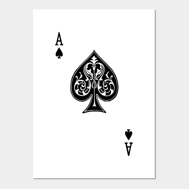 spade card art  Ace Spades Spade Playing Card Game