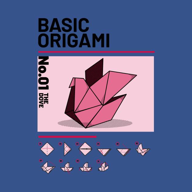 Basic Origami instruction: Dove