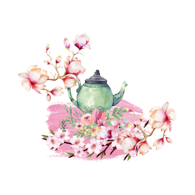 watercolor orchid tea