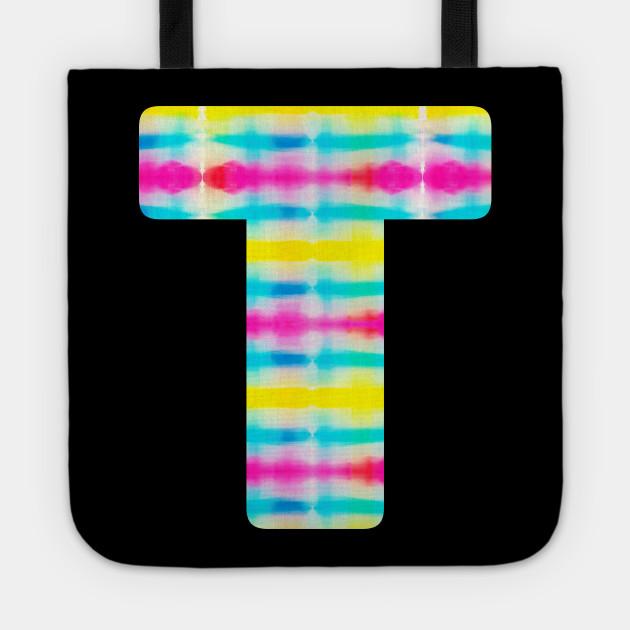 Tie Dye Alphabet T (Uppercase letter t), Letter T