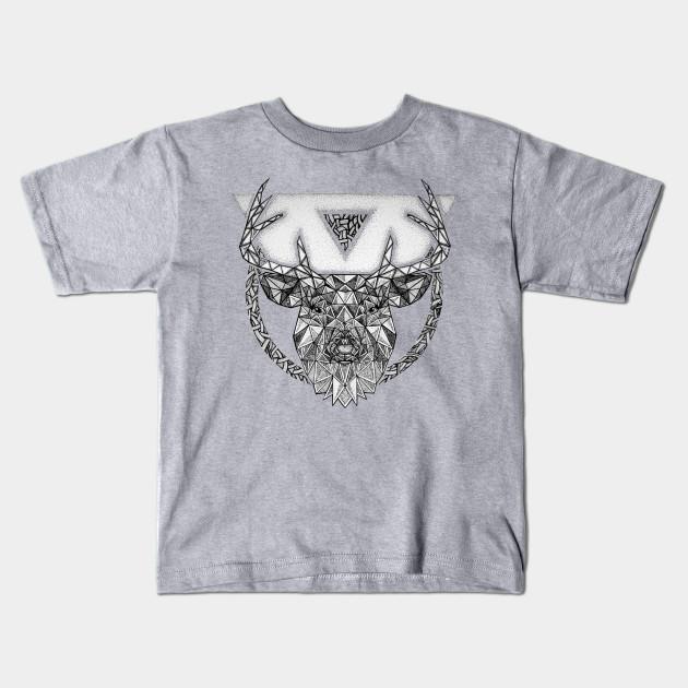 1e36f4de Wild Series • Silver Stag - Wild - Kids T-Shirt   TeePublic