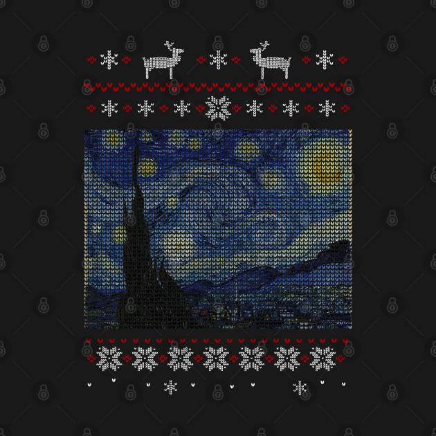 starry night ugly christmas