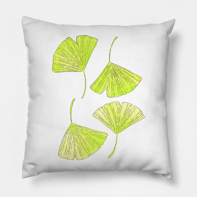 Ginkgo Leaves Design Pillow Teepublic