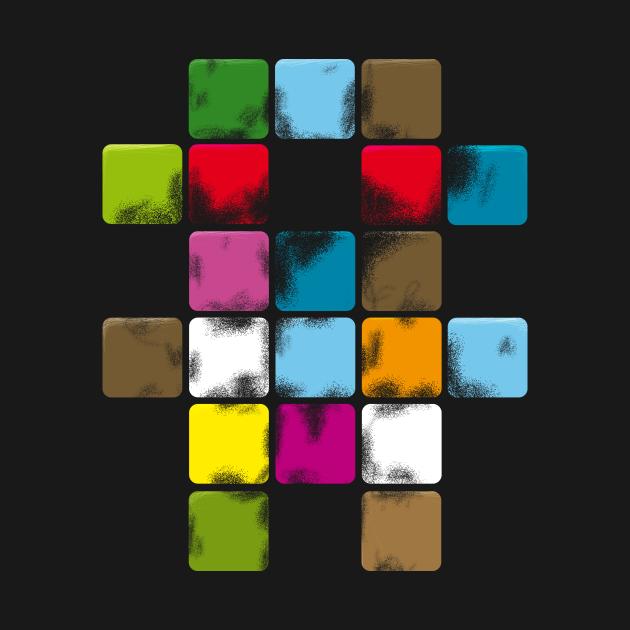 Teddy bear - sci-fi / abstract color
