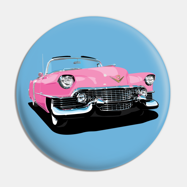 1954 cadillac in bright pink