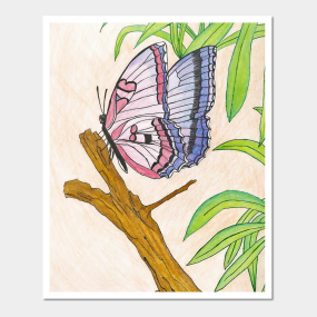 Butterfly Drawing Wall Art