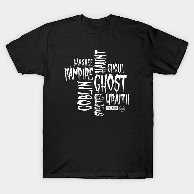 Halloween Words in white T-Shirt